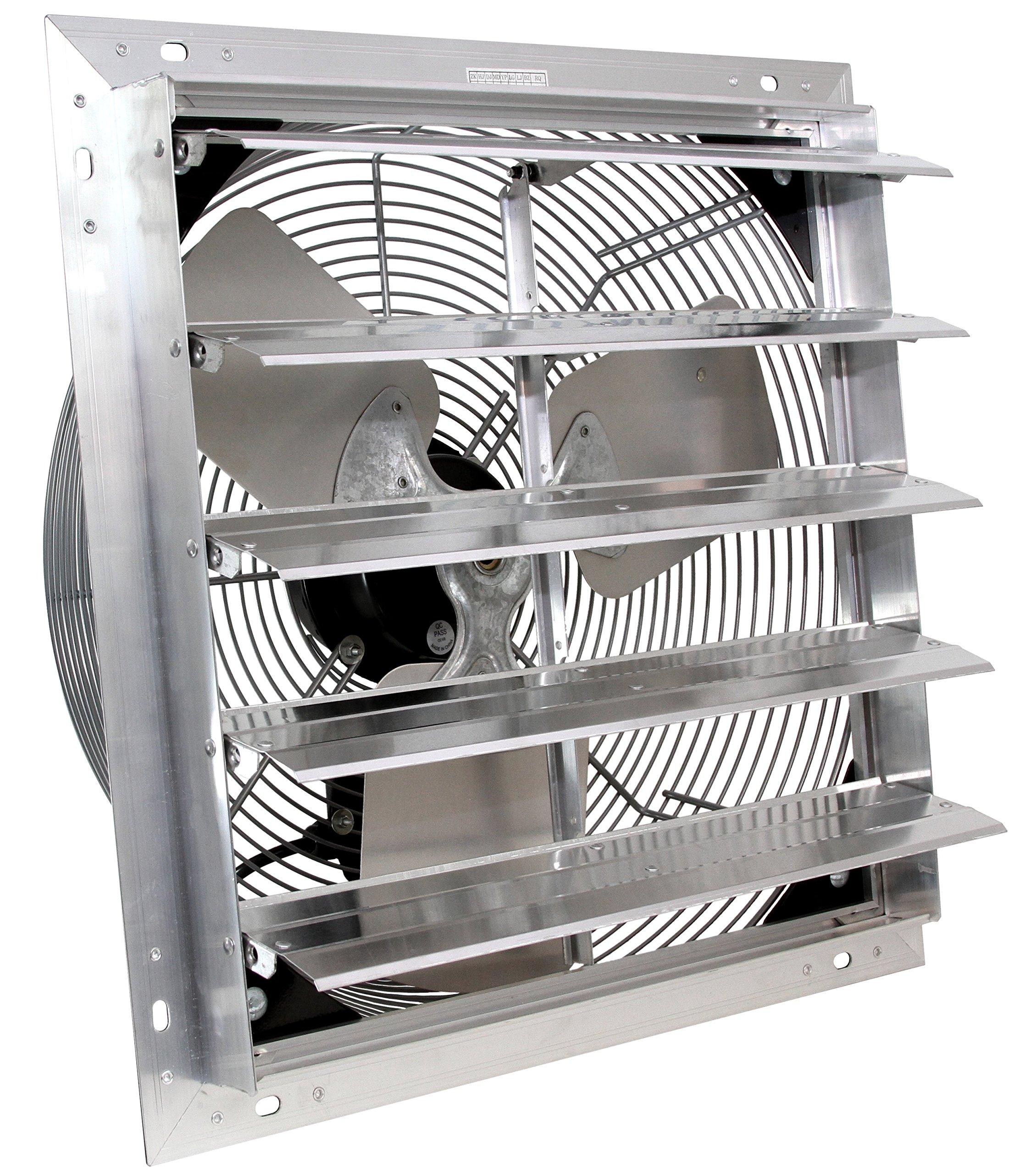 VES 24'' Exhaust Shutter Fan, Wall Mount, 3 Speed