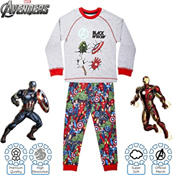 Avengers PyjamasBoys Marvel PJsKids Iron Man Captain America Pyjama Set