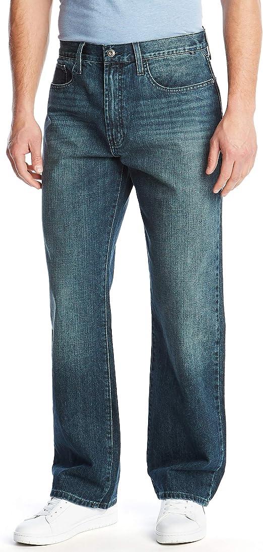 presenting buy cheap pretty nice Nautica Men's Loose Fit 5 Pocket Jean Pant