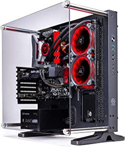 Thermaltake LCGS Shadow III AIO Liquid Cooled CPU Gaming PC (AMD RYZEN 5 3600 6-core,ToughRam DDR4 3200Mhz 16GB RGB Memory, RTX 2060 Super 8GB, 1TB SATA III, WiFi,Win 10 Home) P3BK-B450-STL-LCS,