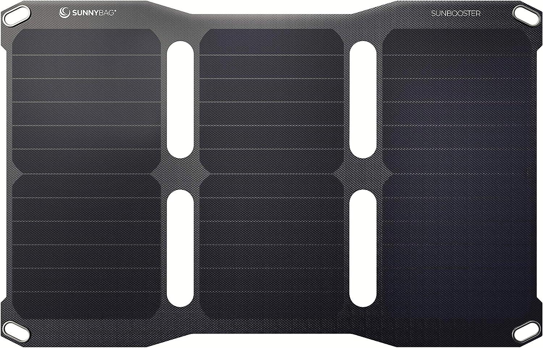 , iPad, Incluye Cable Micro USB 21 W, m/ódulo Solar Plegable Resistente al Agua y Ultraligero, para tel/éfono m/óvil, Smartphone SunnyBAG SunBooster Galaxy S7//S8//S9, iPhone 8//X//XS Cargador Solar