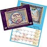 """2016-2017 """"Spirit of Grace and Supplication"""" Art Calendar From Israel, Hebrew Heritage, Biblical / Jewish calendars made in Israel for Christians and Messianic Believers, 16month Sept2016-Dec2017"""