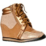 15abd76bd68 Forever Link Women s Shea-42 Fashion Wedge Sneakers