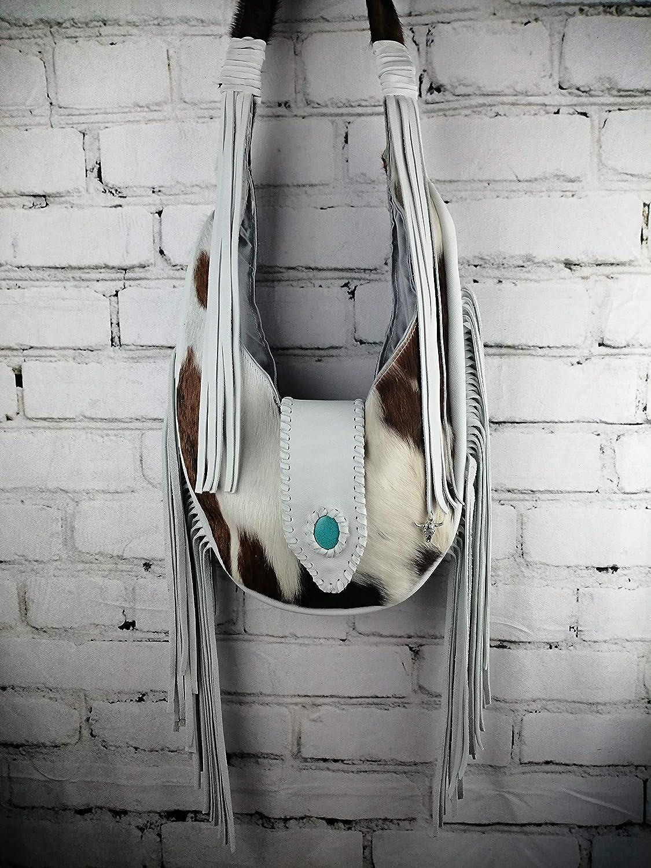 Bolso Blanco Hippie Flecos/Diseño Mujer Boho