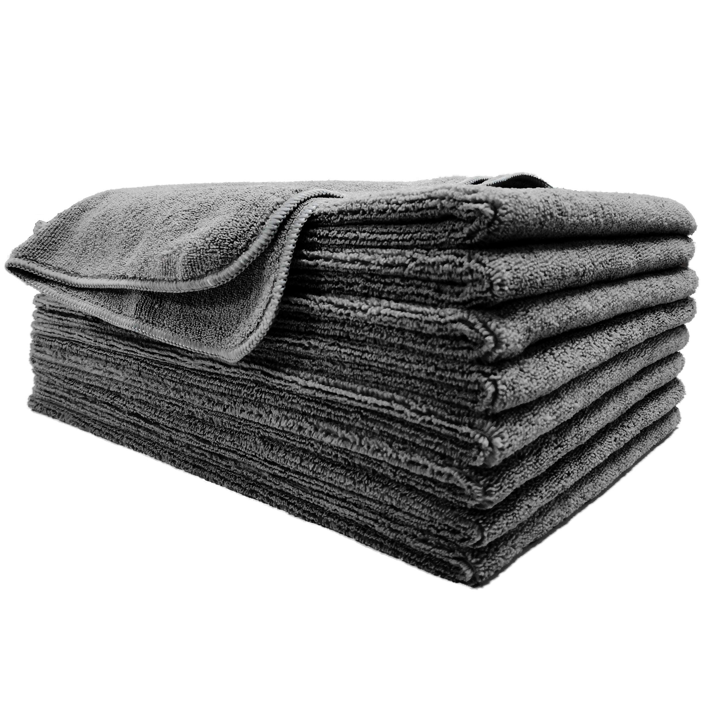 Polyte Professional Quick Dry Lint Free Microfiber Hair Drying Salon Towel, 8 Pack (16x29, Dark Gray) by Polyte