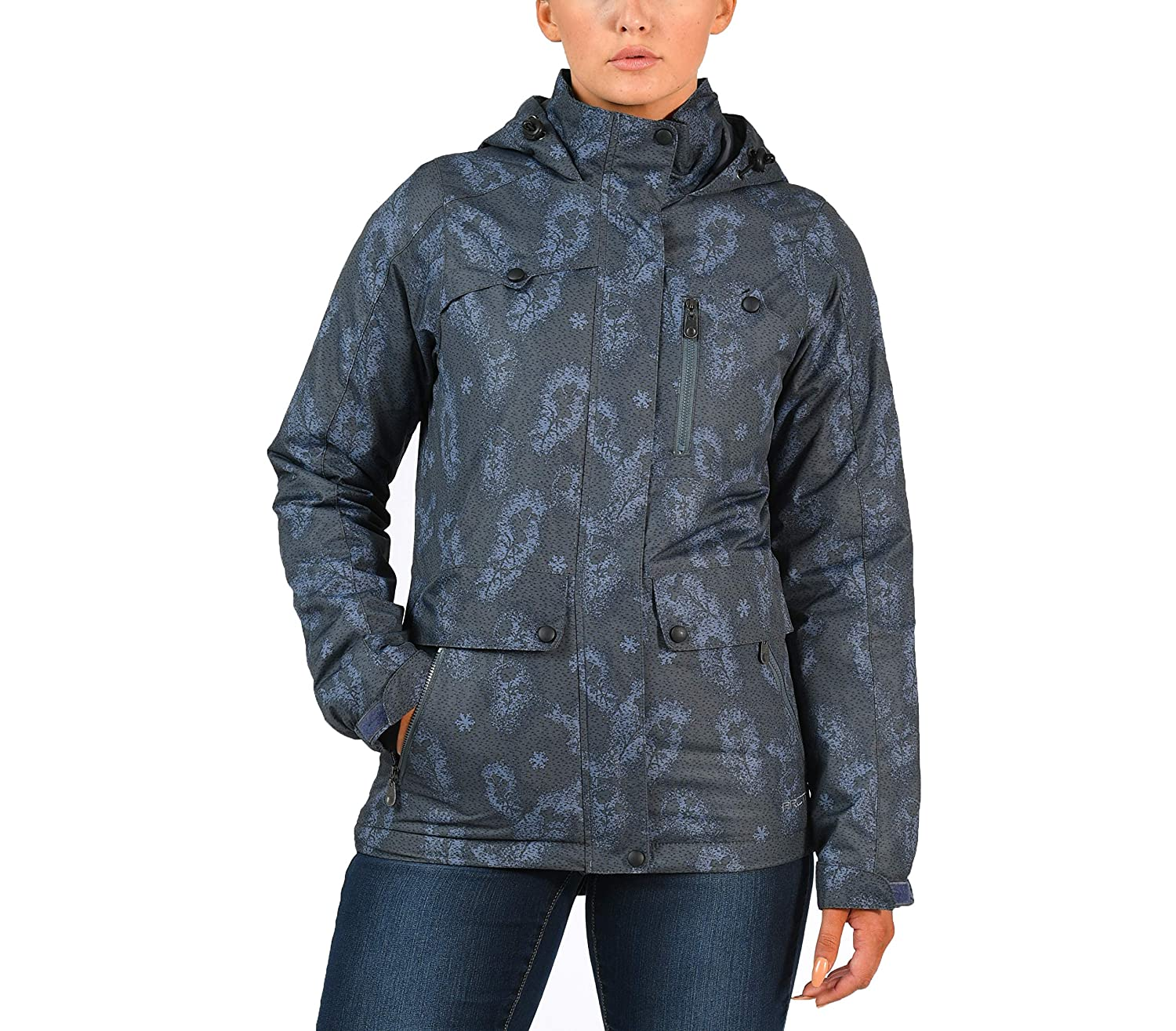 Arctix Women's Daybreak Insulated Jacket, Large, Floral Grey
