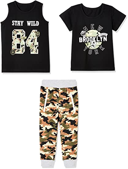 45a51be5d Amazon.com  Sprout Star Boy s Brooklyn and Stay Wild 100% Cotton ...