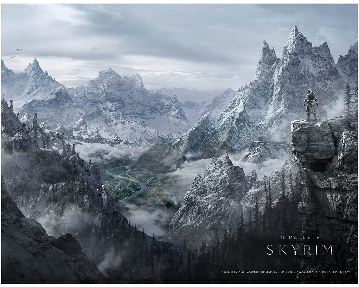 Skyrim Wallscroll Valley [Importación Alemana]: Amazon.es ...