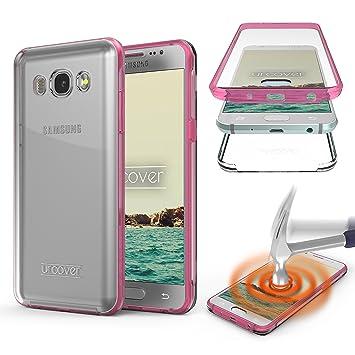 Urcover® Funda Compatible con Samsung Galaxy J5 2016 Carcasa Mejorada Cover 360 Grados, edicion Dura, Carga inalámbrica Qi, Case Transparente Crystal ...