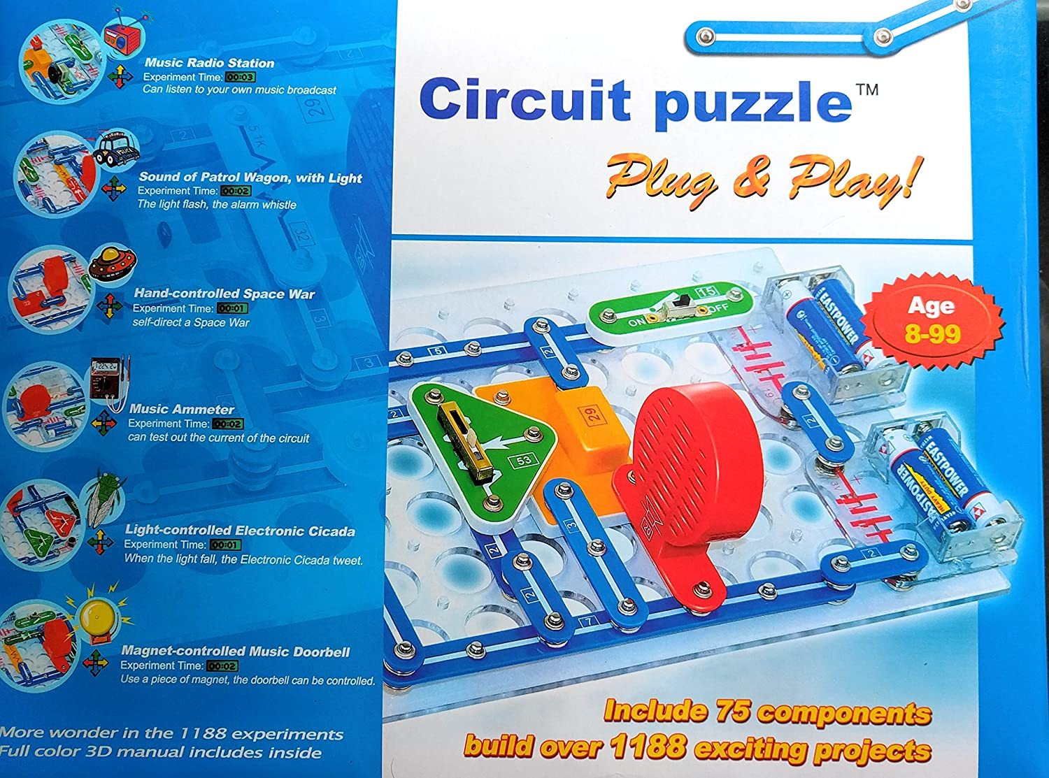 Circuit Puzzle 1188 Projects Toys Games Door Bell Diagram Free Electronics Circuits