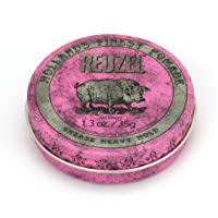 Reuzel - Pink Grease Heavy Hold Pomade For Men - Medium Shine - Oil Based - Great For Curly Hair - Moulds and Retains…