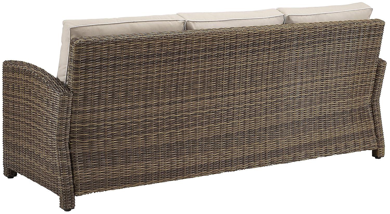 Amazon.com : Crosley Furniture Bradenton Outdoor Wicker Patio Sofa ...