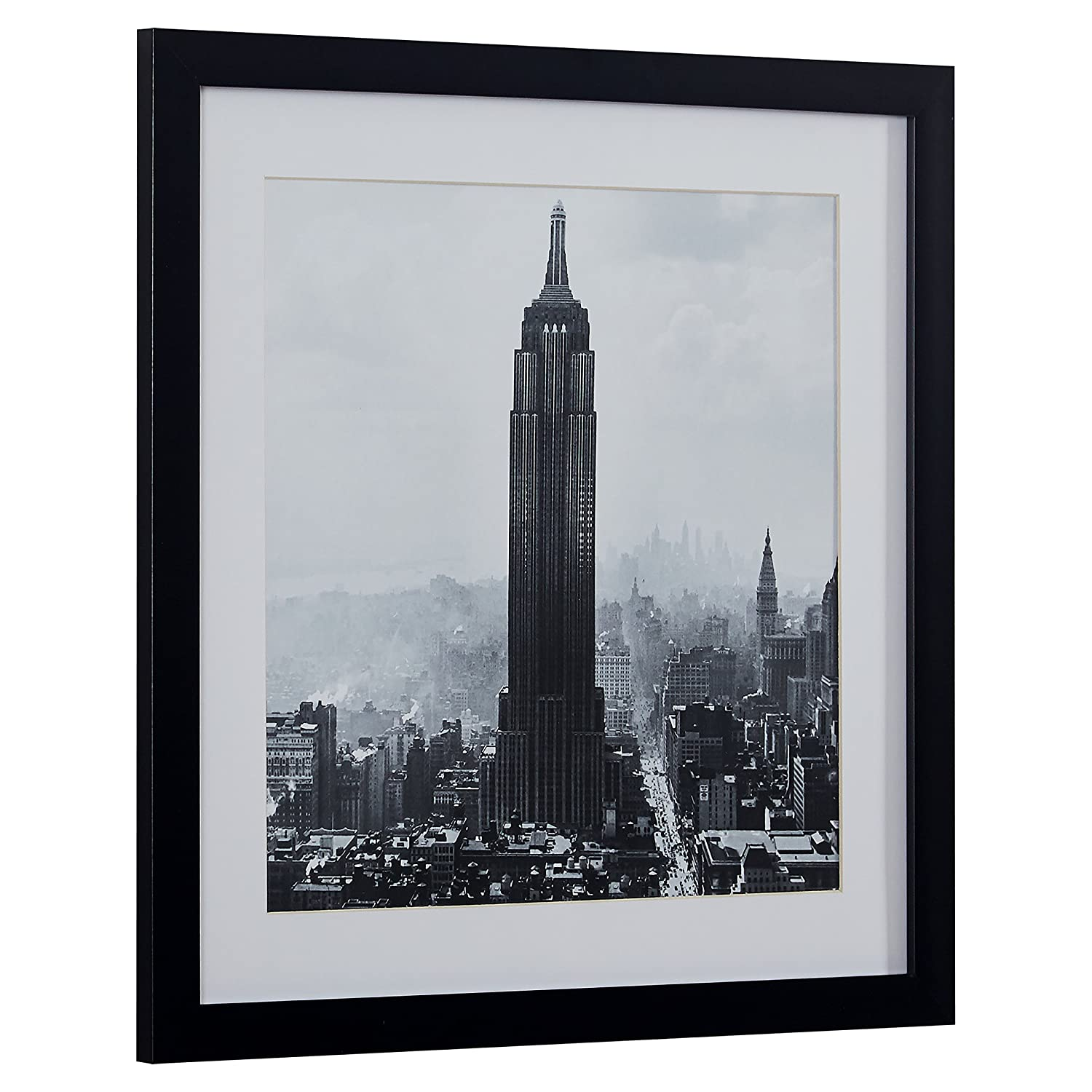 Amazon com modern black and white photo of empire state building black frame 14 x 14