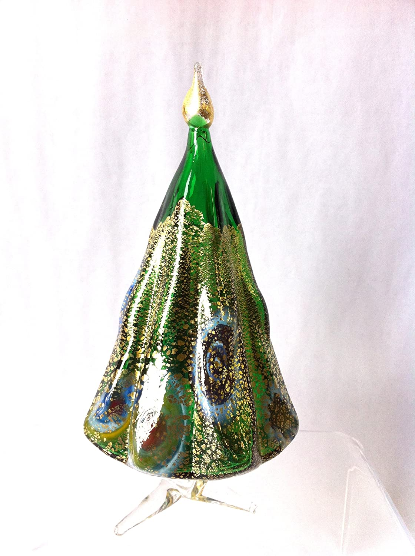 Murano Glass Christmas Tree, Green