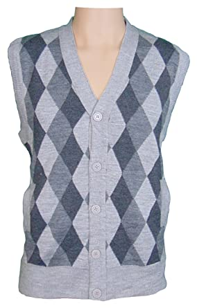Mens argyle Design Classic Sleeveless V Neck Tank Tops Cardigans ...