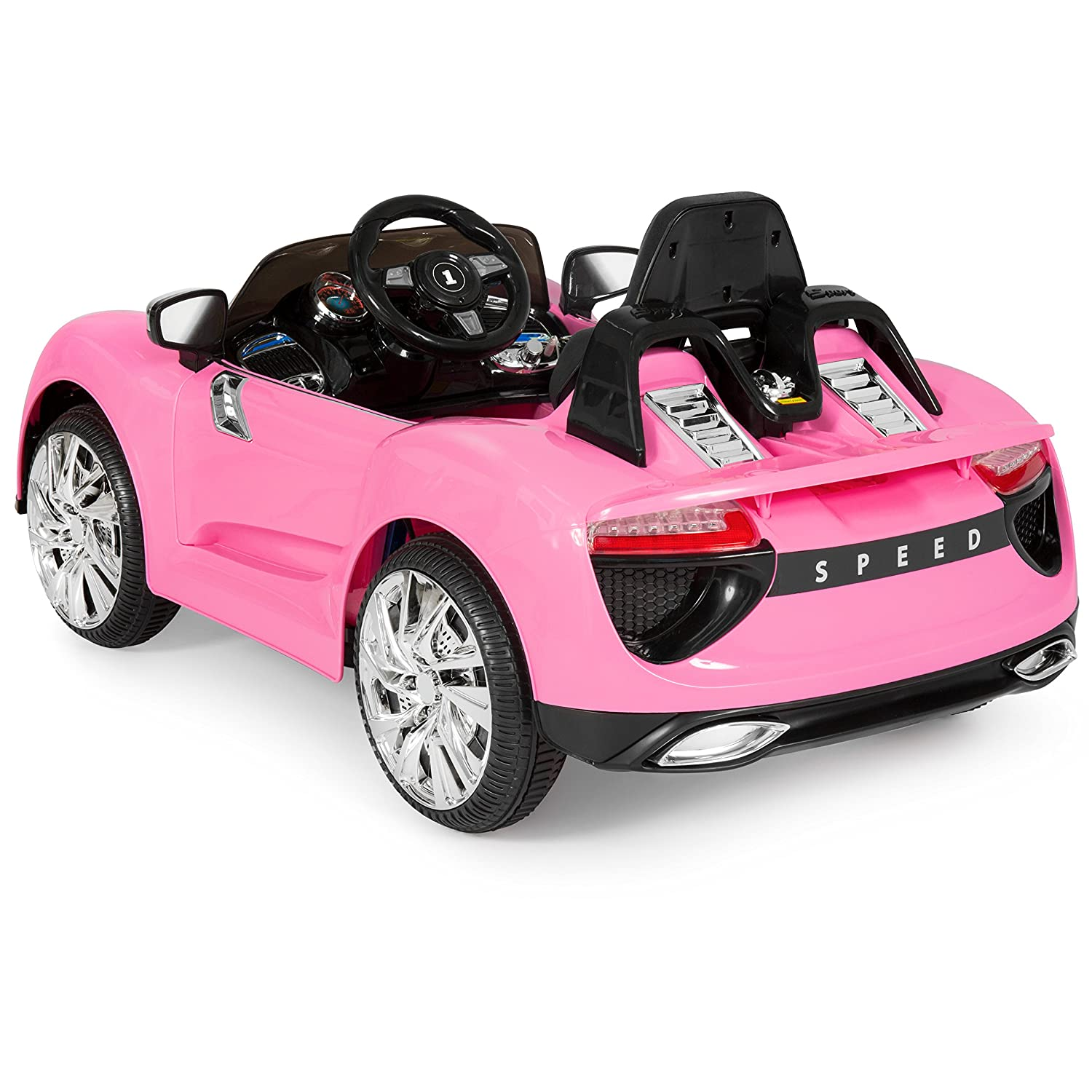 Power Wheels Smart Car Parts Best Choice Products 12v Kids Battery Powered Remote Control Electric Rc Ride On W 2 Speeds Led Lights Mp3 Aux Pink Toys Games
