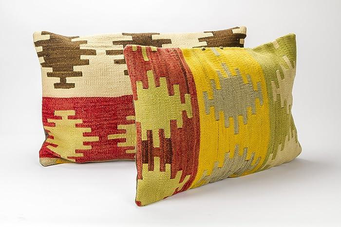 Amazon Pair Decorative Pillows kilim pillows throw