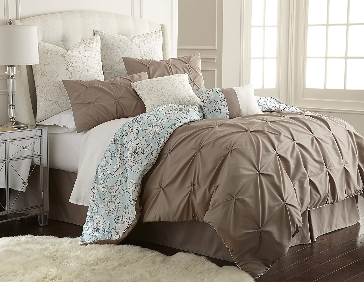 in gray sets navy set king comforter patchwork ruffling and calking big size colors queen multiple taupe blue marmar piece