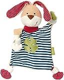 sigikid 女孩和男孩手帕玩具,有机系列,兔子,蓝/白,40504