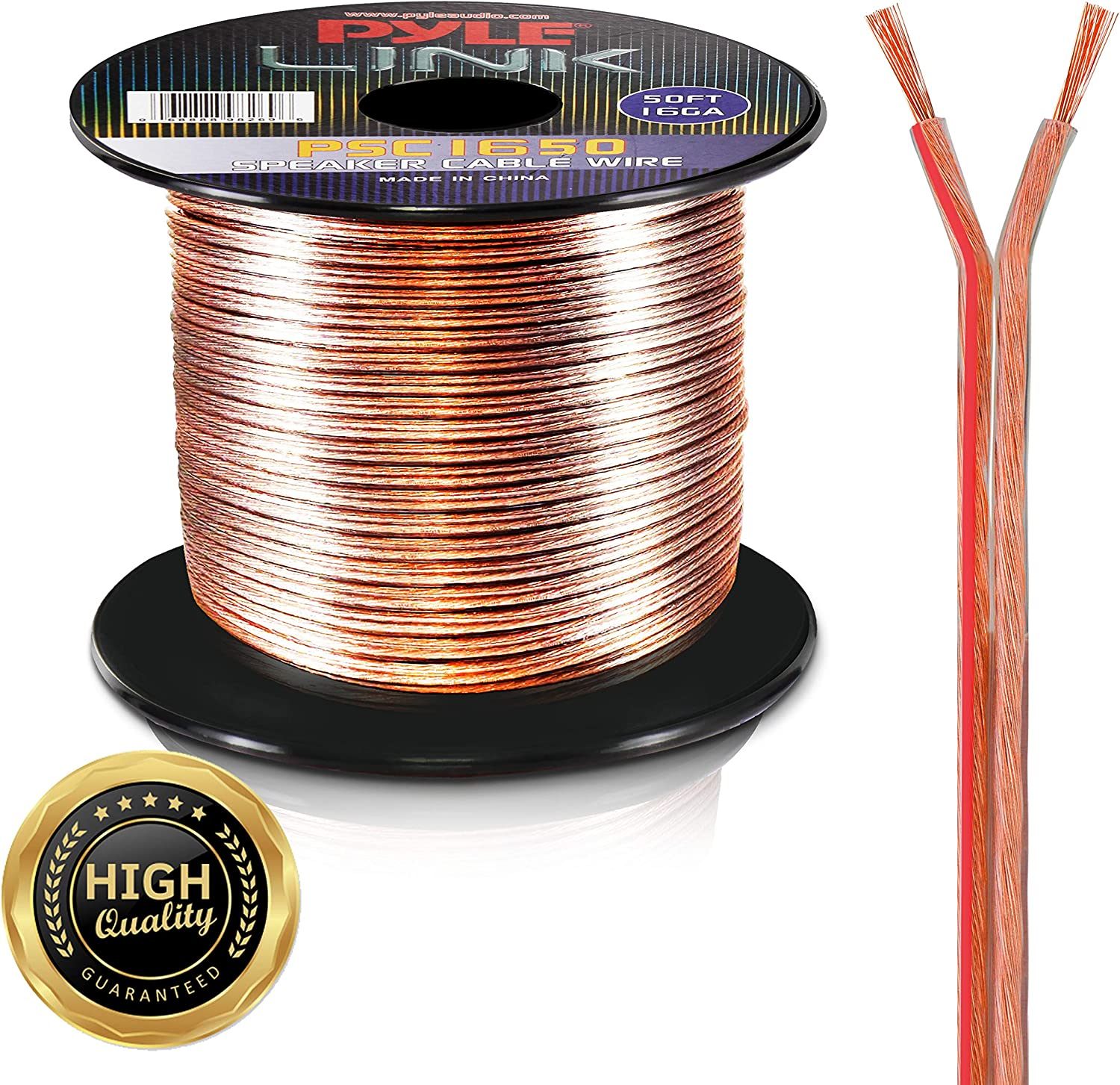 Pyle PSC1850 18-Gauge 50-Feet Spool of Speaker Zip Wire: Car Electronics