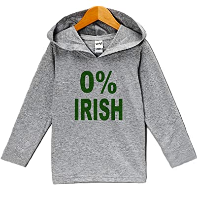 7 ate 9 Apparel Funny 0% Irish ST Patrick's Day Hoodie Pullover