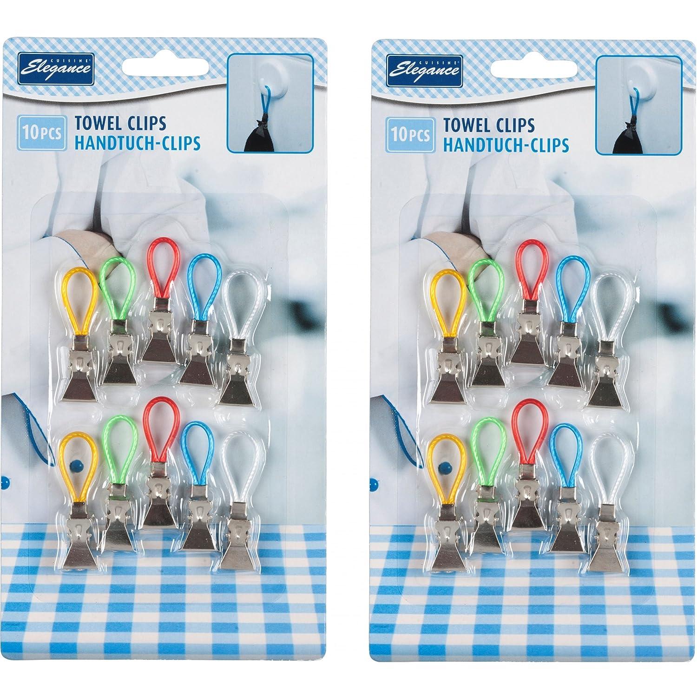 20 St Handtuch Clips Handtuchclips Handtuchhalter Halter Aufhänger Aufhängeclips