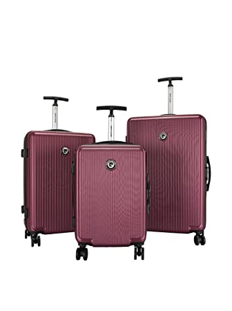 the best attitude authentic quality new images of pierre cardin 3er Set Hartschalen Trolley bordeaux 0 cm ...