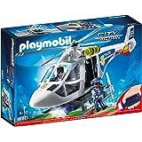 Playmobil 6921 Polizeihubschrauber mit Aussicht Licht, mehrfarbig