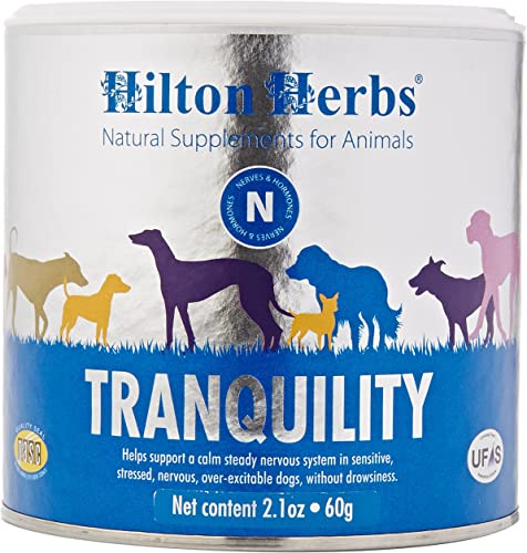 Hilton Herbs Canine Tranquility Supplement for Anxiety Nerves Stress, 2.1 oz Tub