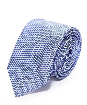 Ascot Accessories Hombres corbata con estampado de seda Azul única ...