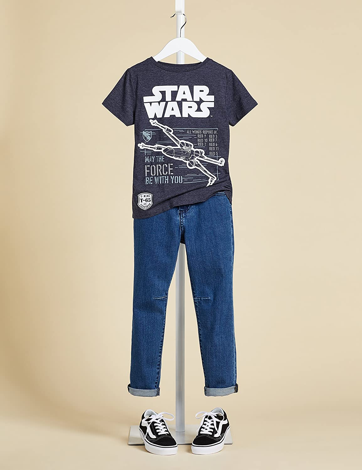 RED WAGON Star Wars Boys Vehicle T-Shirt Bambino Marchio
