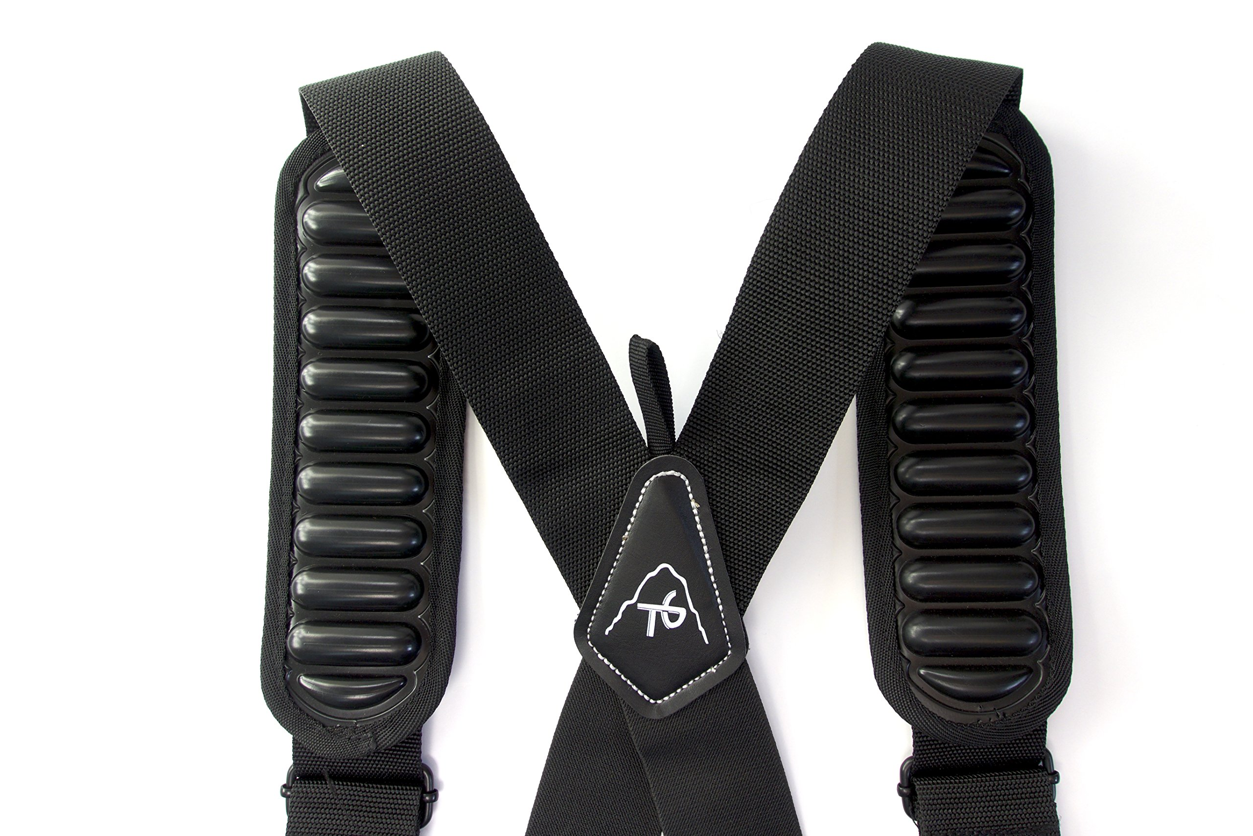 Tool Belt Suspenders- Heavy Duty Work Suspenders for Men, Adjustable, Comfortable and Padded -Includes- Tool Belt Loops and Strong Trigger Snap Clips by ToolsGold by ToolsGold (Image #9)