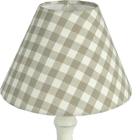 Pantalla para lampara de 22 cms de diámetro confeccionada en tela y decorada con cuadros: Amazon.es: Iluminación