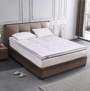 Cannon 233 Thread Count 3 inch White Down Fiber Top Featherbed Mattress Topper-(Full/Queen/King)