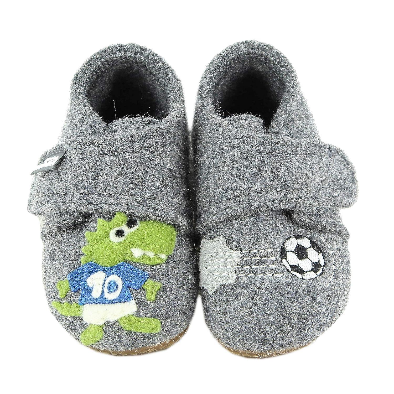 Living Kitzbühel Baby Jungen Babyklett. Krokodil & Fußball Lauflernschuhe 3033