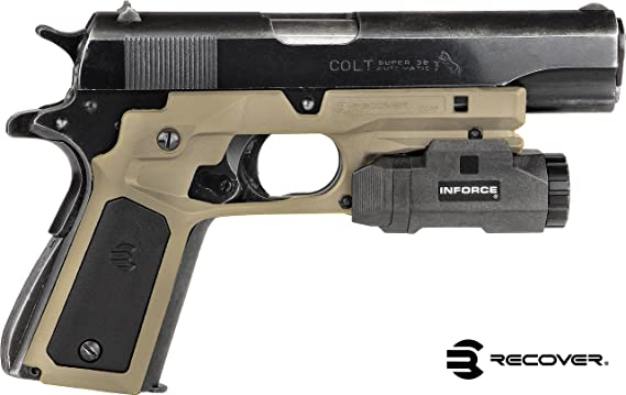 Recover Tactical CC3P Grip and Rail System with Changeable Panels for The 1911