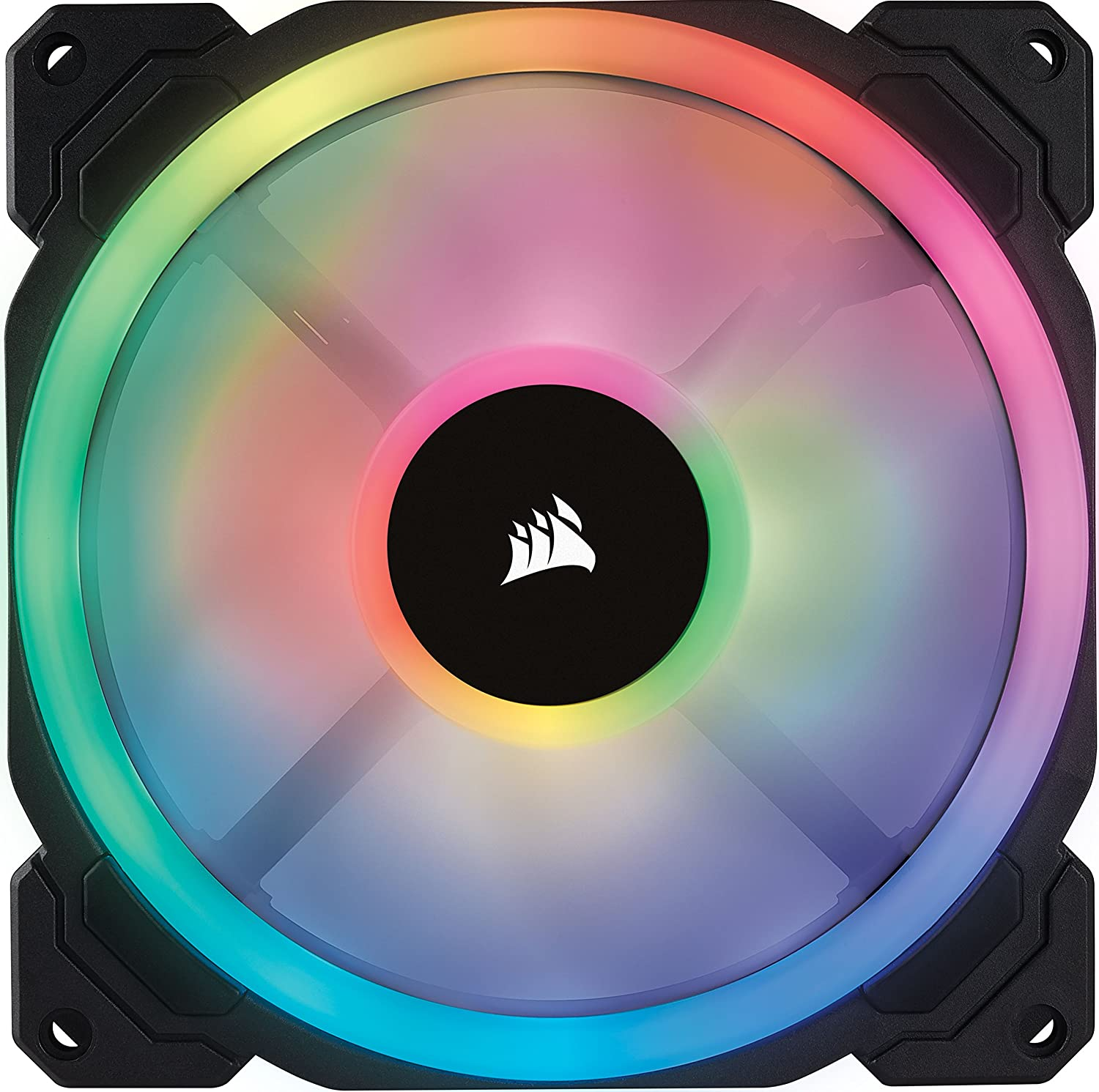 Corsair Ll Series Ll120 Rgb 120mm Dual Light Loop Wiring Two Fans In Led Pwm Fan Single Pack Computers Accessories