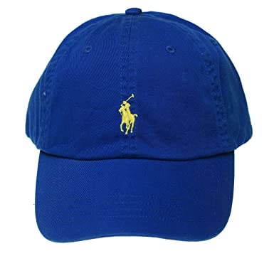 Polo Ralph Lauren Mens Chino Monogram Ball Cap Blue O S at Amazon ... 4247d90b1d2