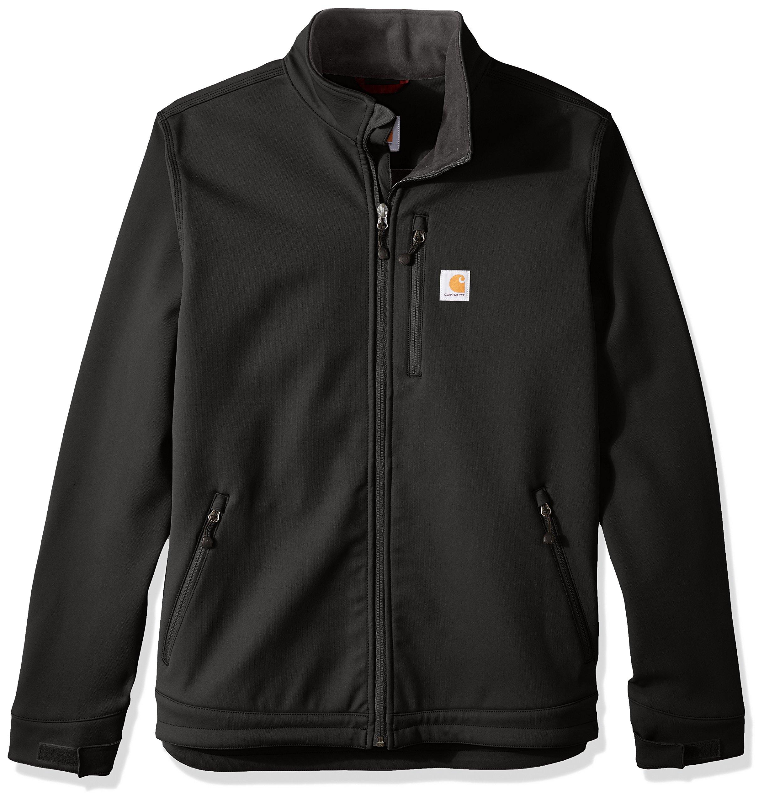 Carhartt Men's Big & Tall Crowley Jacket, Black, X-Large/Tall