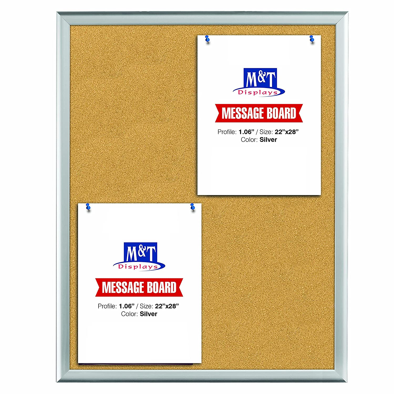 Amazon com : Cork Bulletin Board Set, Silver Aluminum Frame