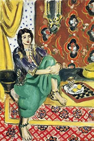 Henri Matisse – Odalisque Sitting With Board, Size 24×36 inch, Canvas art print wall d cor