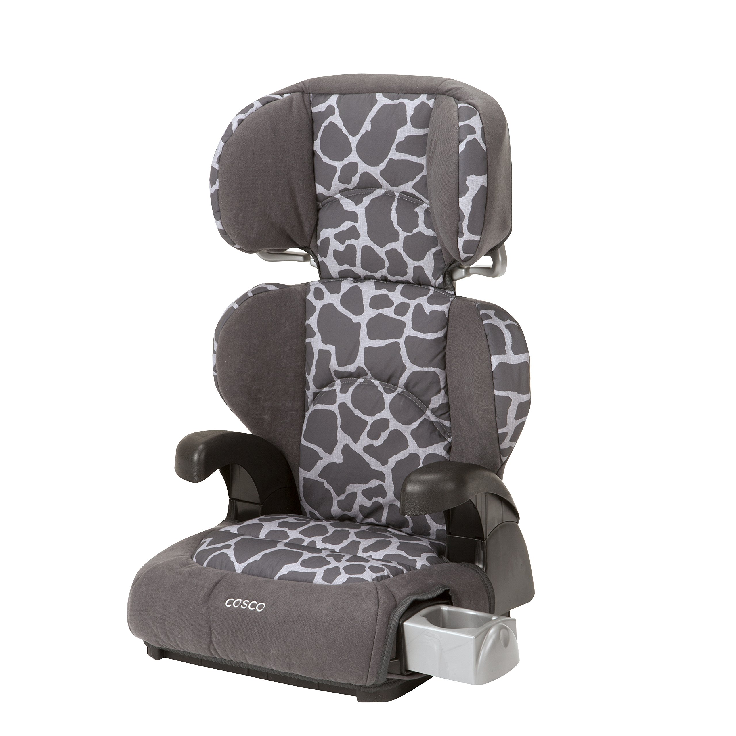 Cosco Pronto! Booster Car Seat for Children, Adjustable Headrest, Integrated Cup Holders, Kimba