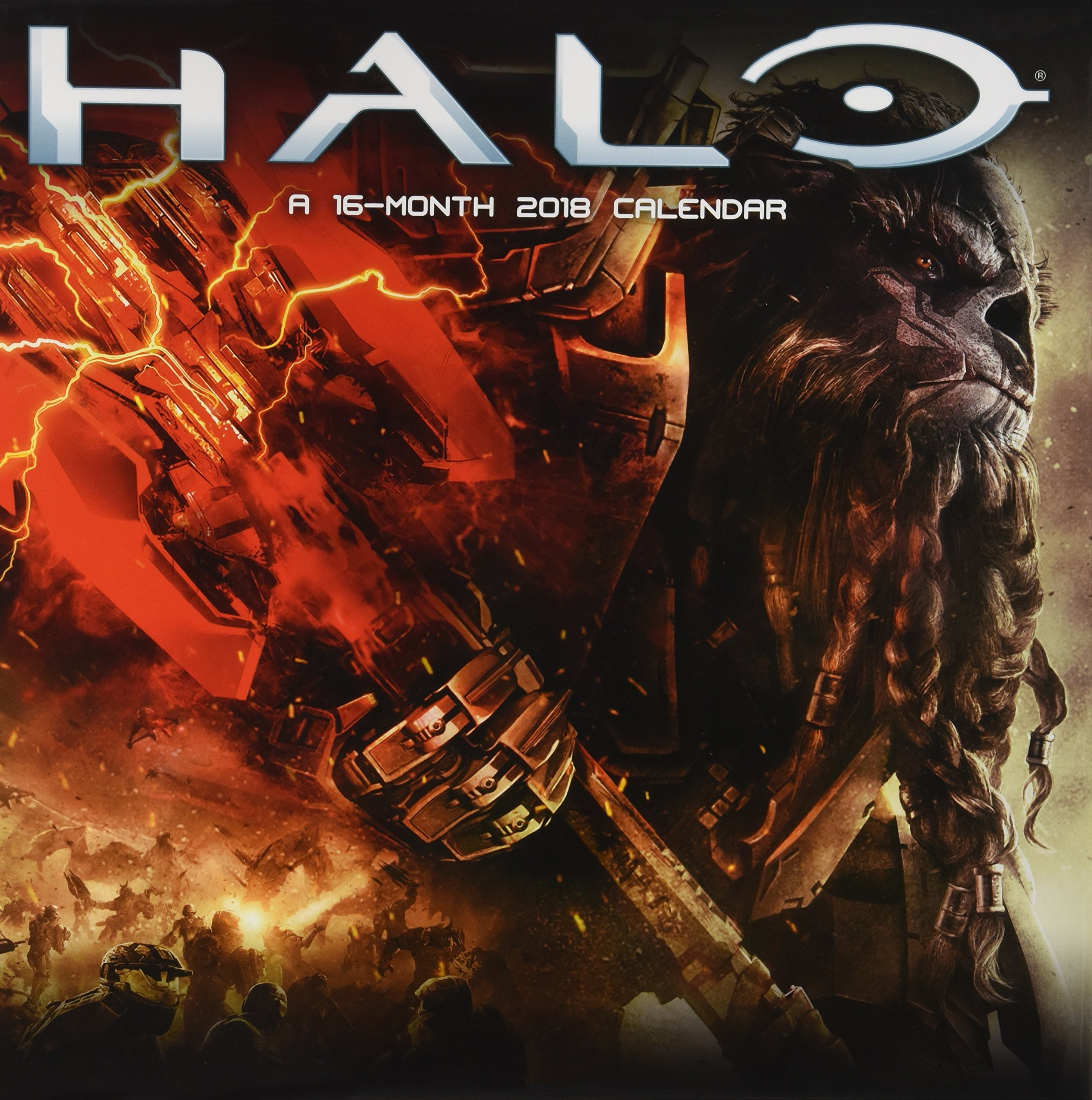 Halo Official 2018 Calendar   Square Wall Format