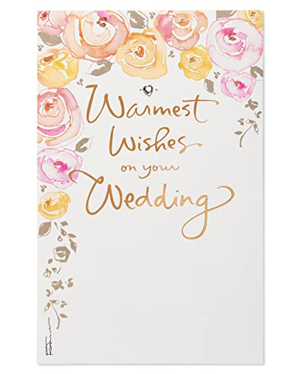 Wedding Card Wishes.Amazon Com Warmest Wishes Wedding Card With Rhinestones