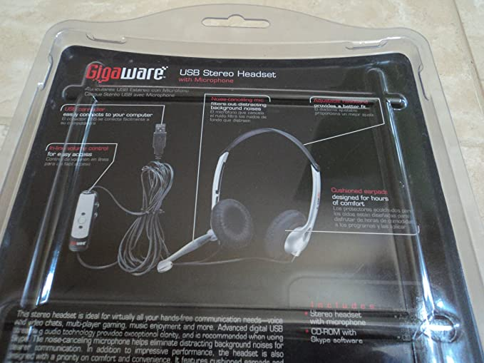GIGAWARE USB STEREO HEADSET DRIVERS DOWNLOAD FREE