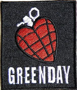 Aufnaher Green Day Heart Grenade Heavy Metal Rock Punk Music Band