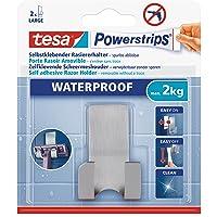tesa Powerstrips Waterproof Zelfklevende Scheermeshouder Metaal. draagkracht tot 2 kg,