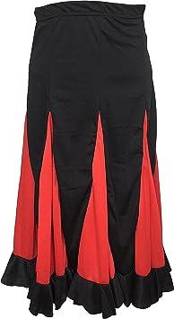 La Señorita Falda Flamenco Danza Sévillane niña Negro con ...