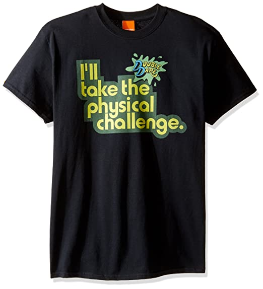 5e325fd22 Nickelodeon Men's Double Dare I'll Take The Physical Challenge T-Shirt |  Amazon.com