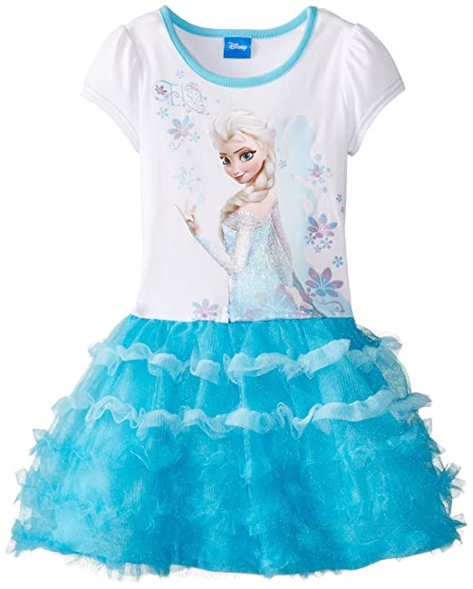 Amazon.com: Disney Girls Frozen Elsa Vestido Tutú: Clothing